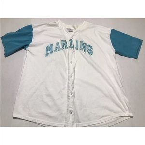 Vintage 90s Florida Marlins Spell Out Jersey